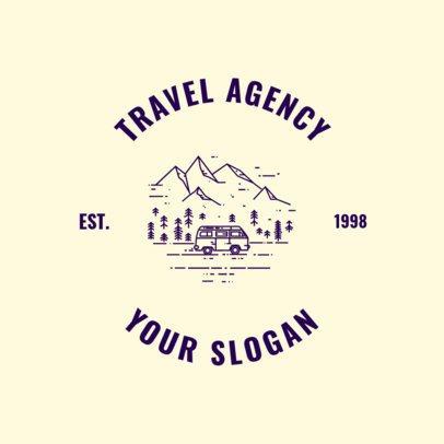 Wilderness Travel Agency Logo Design Maker  1280