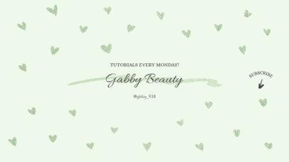 Minimalist Beauty Channel Banner Design Maker 447a