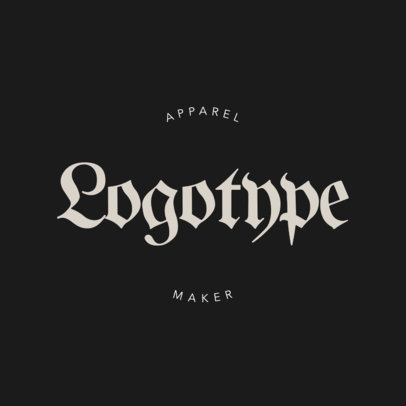 Logo Maker for a Gothic Fashion Brand 1339