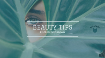 Beauty Tips Channel Banner Design Maker 452d