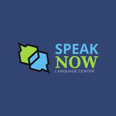 Dialect Center Logo Design Template 1302b