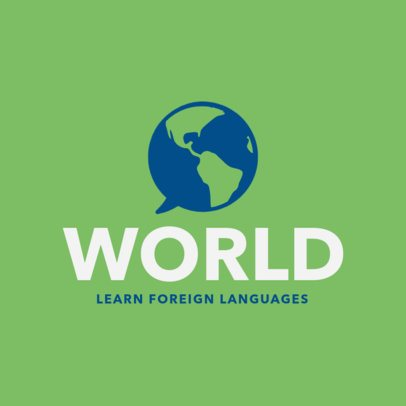 Logo Design Maker for Foreign Language Center 1302d