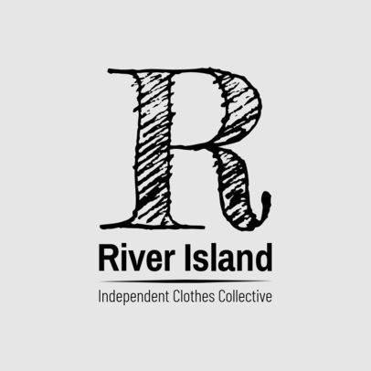 Logo Design Template for Fashionable Clothing Brand 1318d