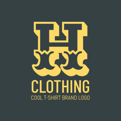 Cool T-Shirt Brand Logo Design Template 1318e