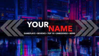 Youtube Banner Template for Gaming Reviews Channel 461
