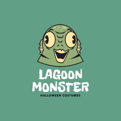 Logo Design Maker for Monster Halloween Costumes 1320a