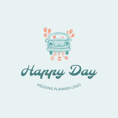 Happy Wedding Planner Logo Design Maker 1274e