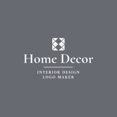 Home Decor Interior Designer Logo Maker 1330b