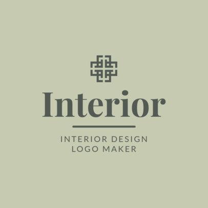 Interior Designer Logo Design Template 1330d