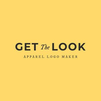 Flat Logo Maker for Clothing Brand 1338e