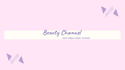 Hair and Nails Beauty Channel Banner Template 450b