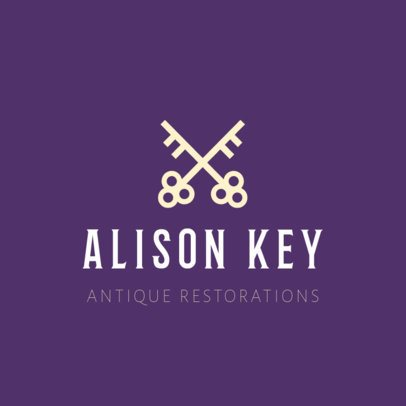 Logo Design Template for Antique Restoration Store 1326c