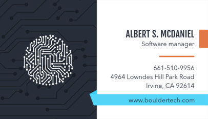 Technology Business Card Template 513