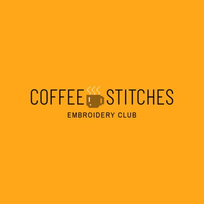 Embroidery Club Logo Design Template 1278b