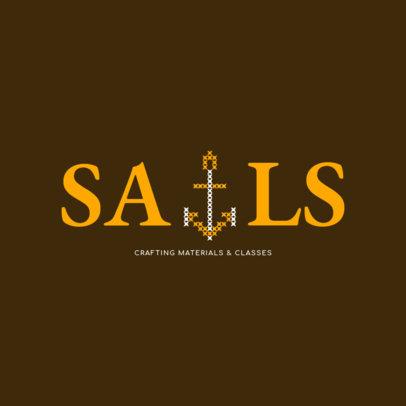 Logo Design Maker for Crafting Materials Store 1278c
