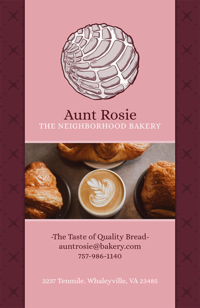 Placeit Simple Flyer Design Template For Bakery Shop