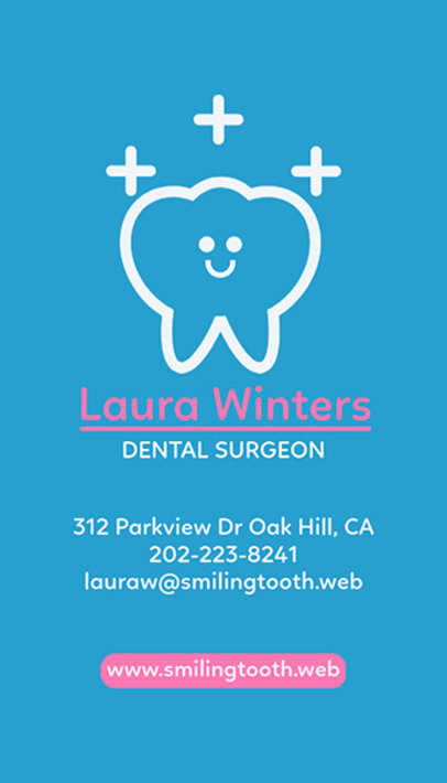 Placeit vertical business card template for dentists vertical business card template for dentists wajeb Images