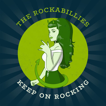 Album Cover Template for Rockabilly CD 478