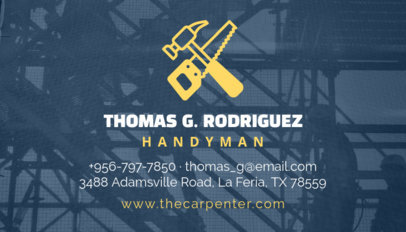 Placeit carpentry services business card template handyman business card template cheaphphosting