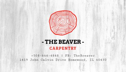 Carpentry Services Business Card Template 491b