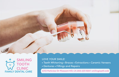 Horizontal Flyer Template for Dental Clinic 489