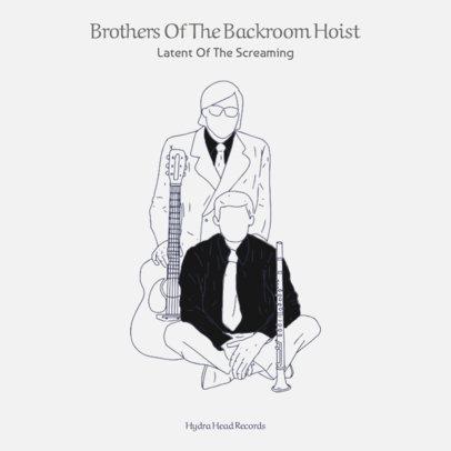 B&W Sketch Album Cover Template 471b