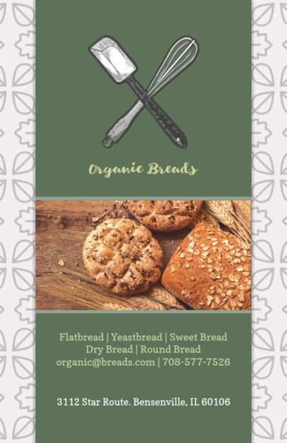 Pastry Shop Flyer Template with Pattern Background 494d