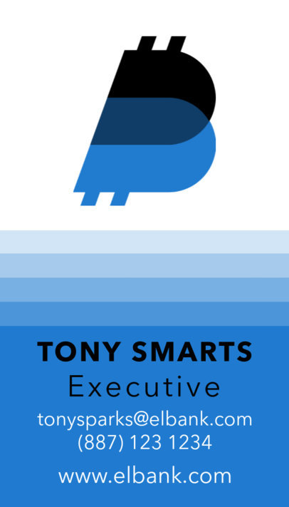 Vertical Business Card Maker for Executives 509