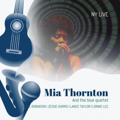 Live Jazz Music Album Cover Maker #468b