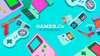 YouTube Gamer Company Channel Banner Maker 457c
