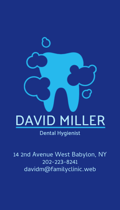 Placeit great business card template for dentists dental hygienist business card maker colourmoves