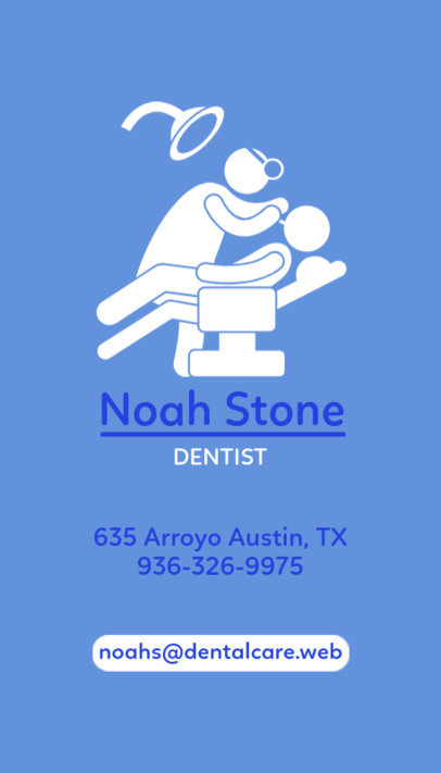 Great Business Card Template for Dentists 490e