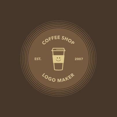 Coffee Shop Logo Maker with Coffee Grains 950e
