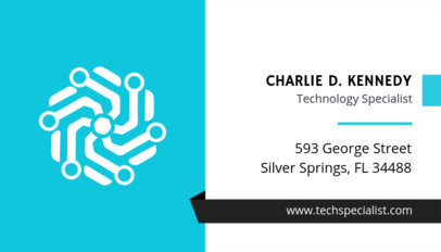 Business Card Template for Technology Specialist 513b