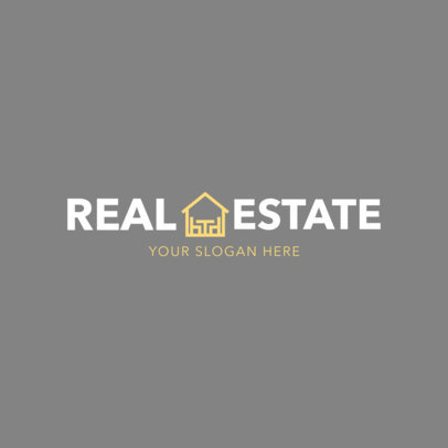 Simple Real Estate Agent Logo Template 1351
