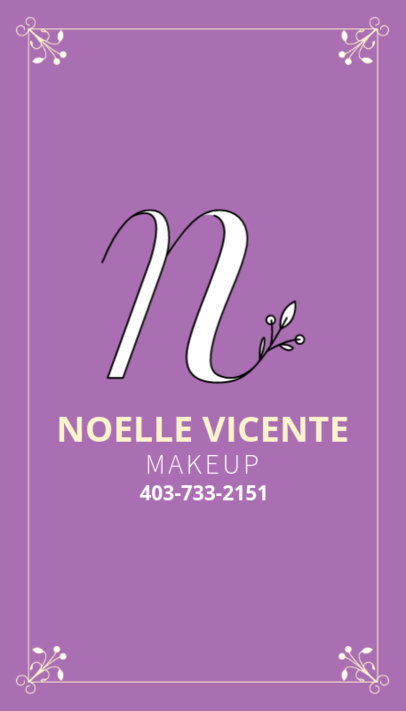 Business Card Template for Makeup Artist 485c