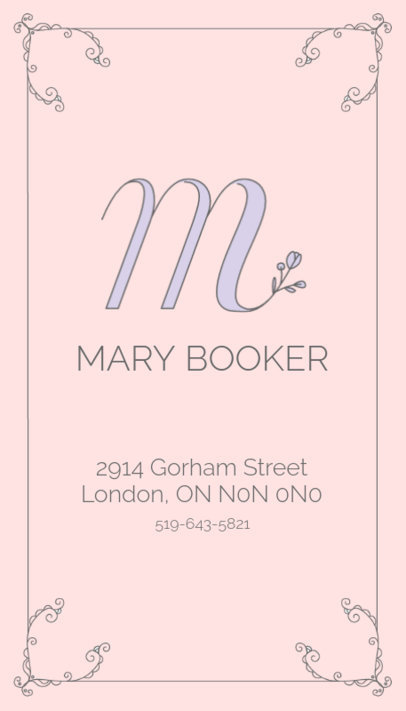Business Card Maker for Professional Beauticians 485d