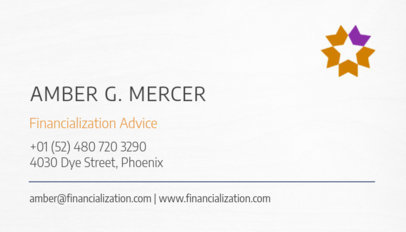 Finance Advice Business Card Maker 511c