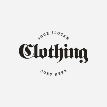 Cool Goth Logo Template for Clothing Brand 1339a