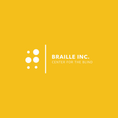 Logo Design Template for Braille Learning Center 1340a