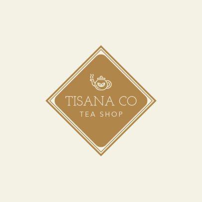 Neutral Tea Shop Logo Template 1344c