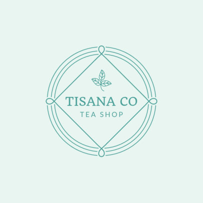 Cute Logo Design Maker for Tea Shop 1344d