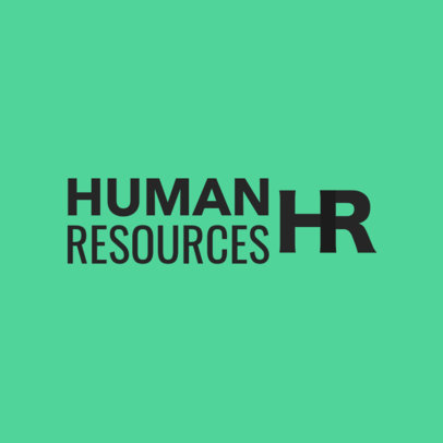 Simple HR Agency Logo Maker 1285a