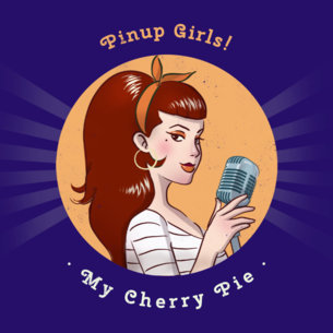 Rockabilly Pinup CD Cover Template 478d