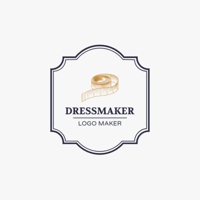 Logo Design Template for Classic Dressmaker Business 1331d