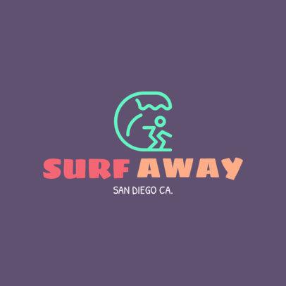 Surf Shop Online Logo Maker 1363