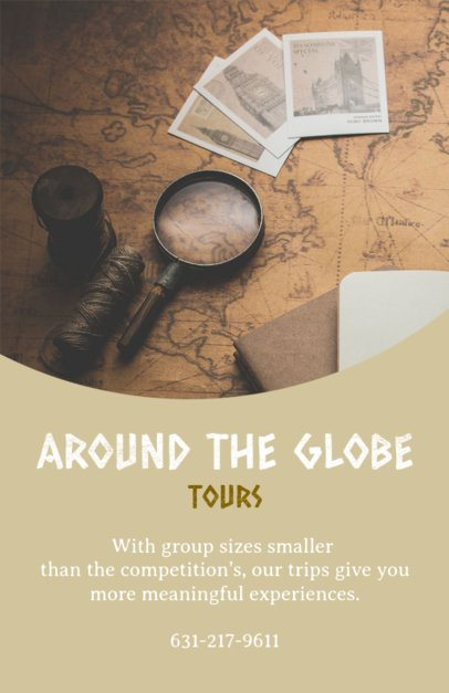 Flyer Maker for Around the Globe Tour 488c