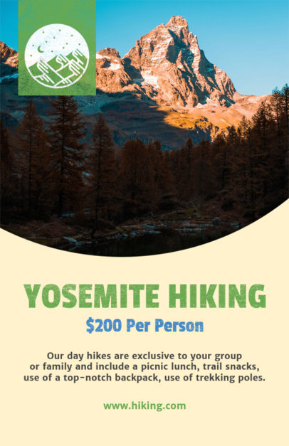 hiking experience flyer template