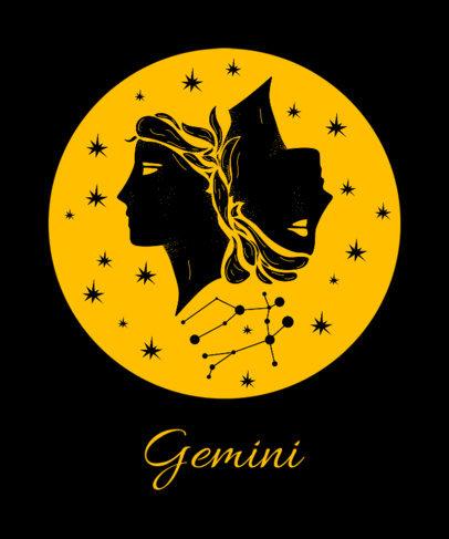 Gemini Tee Design Template 263e