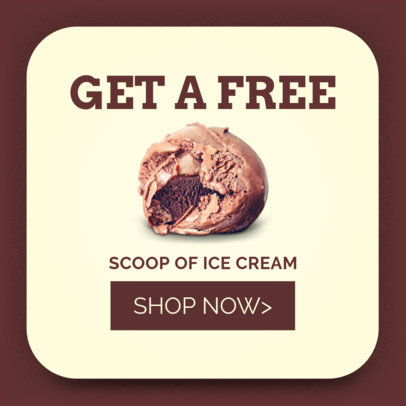 Ice Cream Ad Banner Template 518